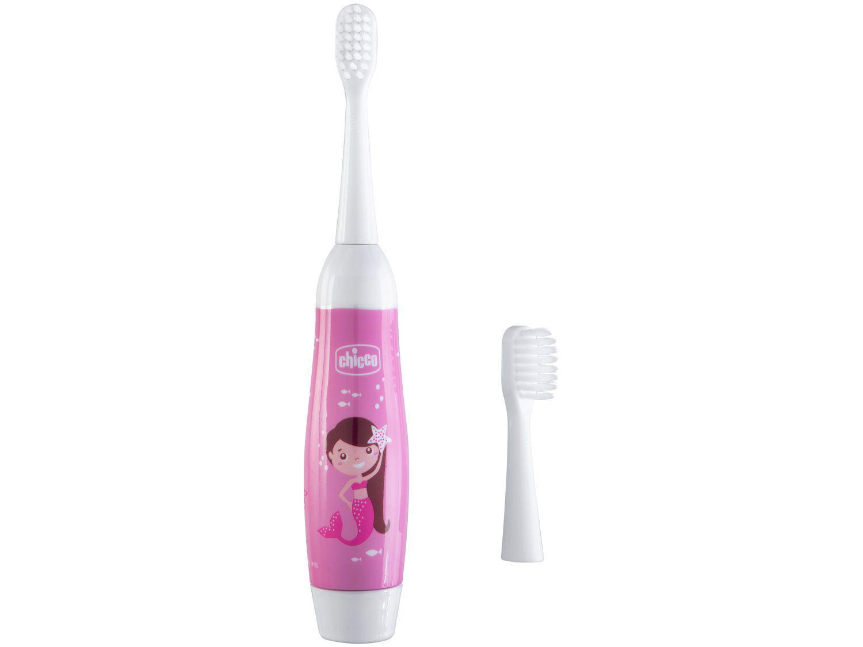 Escova de Dente Elétrica Infantil Chicco - Higiene Oral Sereia