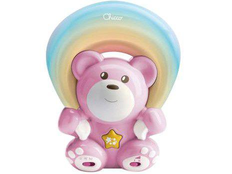 Projetor Infantil Musical Chicco Rainbow Bear Pink