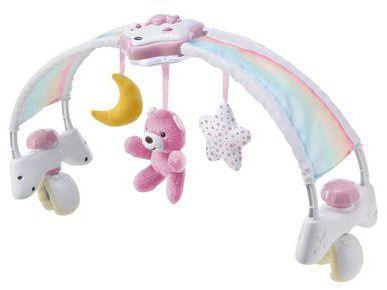 Arco de Atividades Indicado Para Berço Chicco - Rainbow Sky Bed Arch Pink