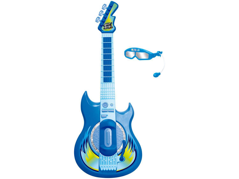 Guitarra de Brinquedo com Microfone Hora do Show - Guitarra Rockstar Zoop Toys