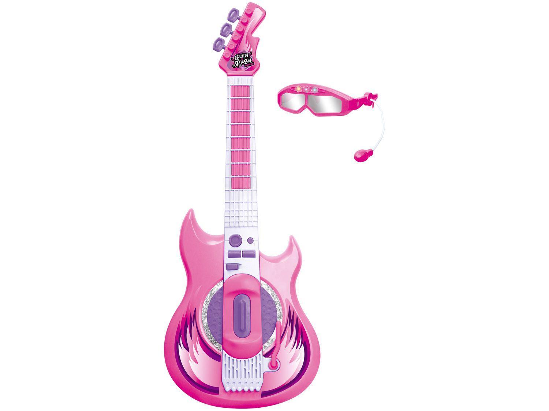 Guitarra de Brinquedo com Microfone Hora do Show - Rockstar Zoop Toys