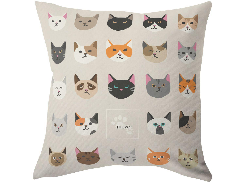 Capa de Almofada 42x42cm Design Up Living - Pet Lovers Gatos