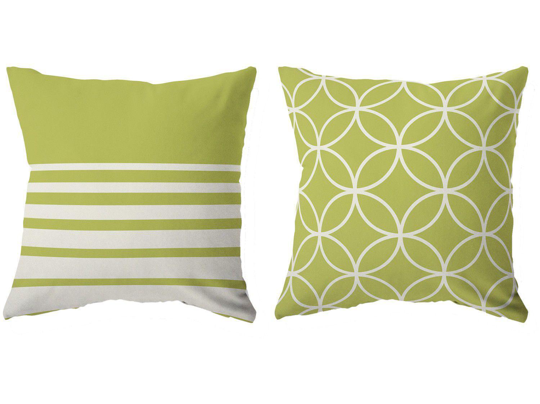 Capa de Almofada 42x42cm Design Up Living - Color Graphics Formas Verde 2 Peças