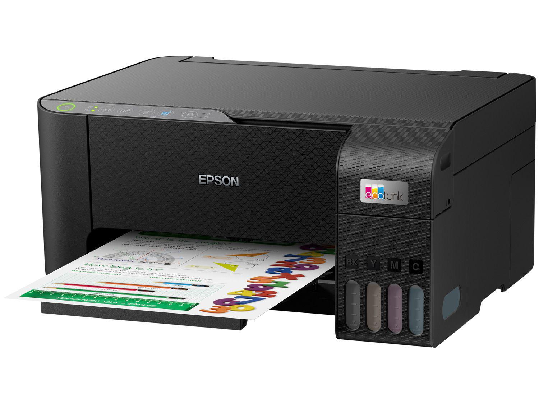 Impressora Multifuncional Epson Ecotank L3250 - Tanque de Tinta Colorida USB Wi-Fi