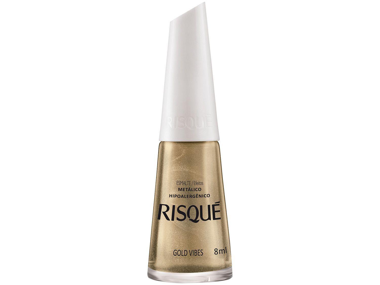 Esmalte Risqué Gold Vibes Dourado Metálico - Hipoalergênico 8ml