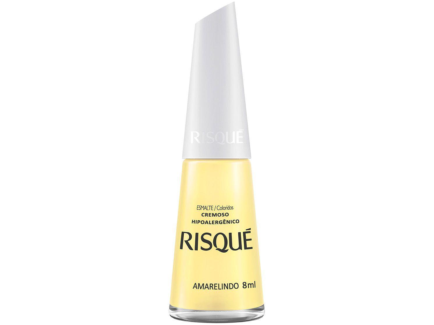 Esmalte Risqué Coloridos Amarelindo Cremoso - Hipoalergênico 8ml