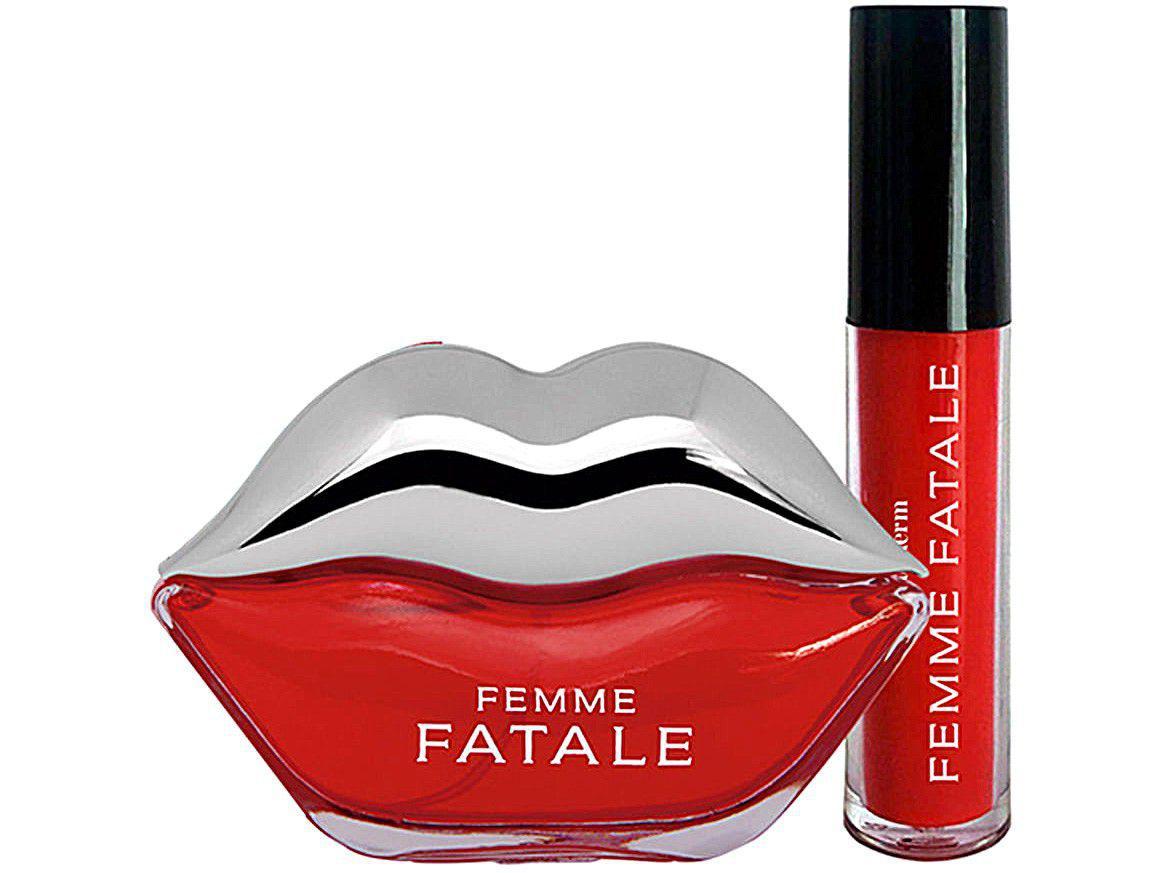 Kit Perfume Phytoderm Perfume + Batom Líquido - Femme Fatale Feminino Deo Colônia