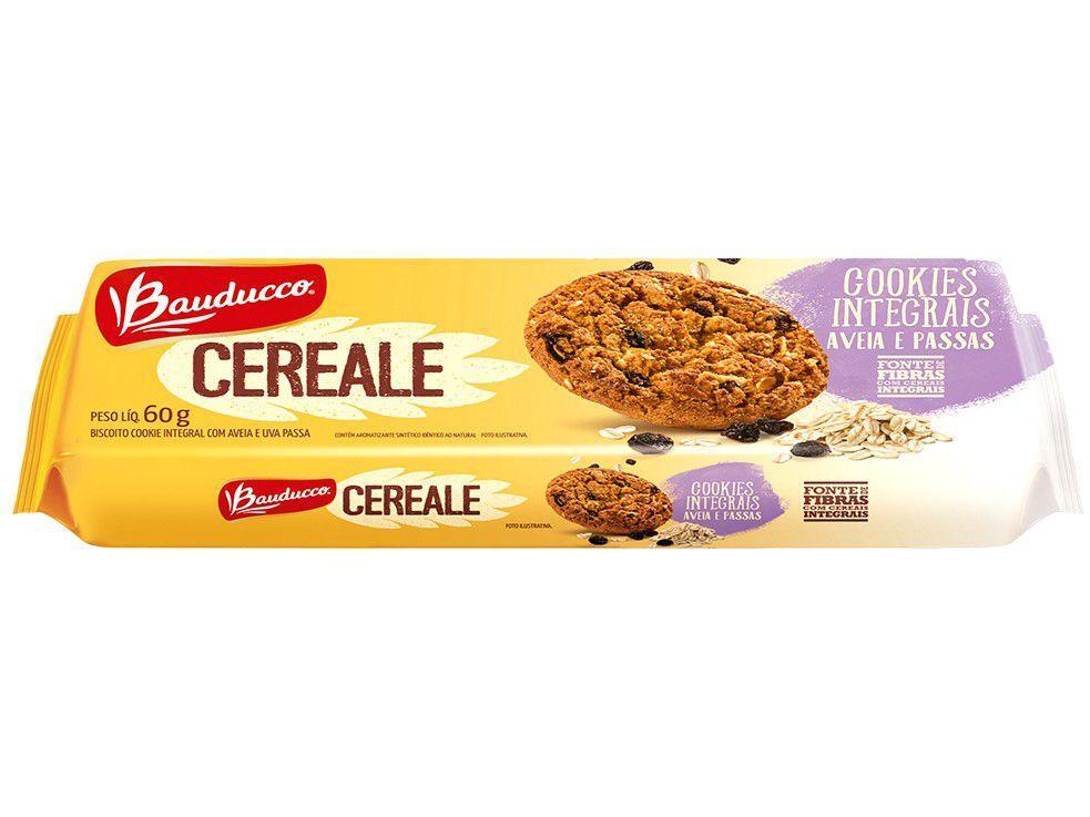 Cookies Integral Aveia e Passas Cereale Bauducco - 60g