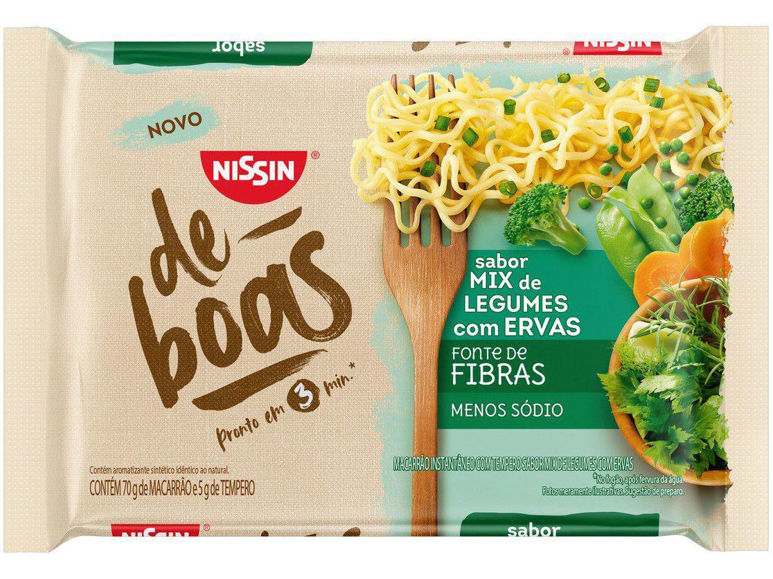 Macarrão Instantâneo Nissin De Boas - Mix de Legumes com Ervas 75g