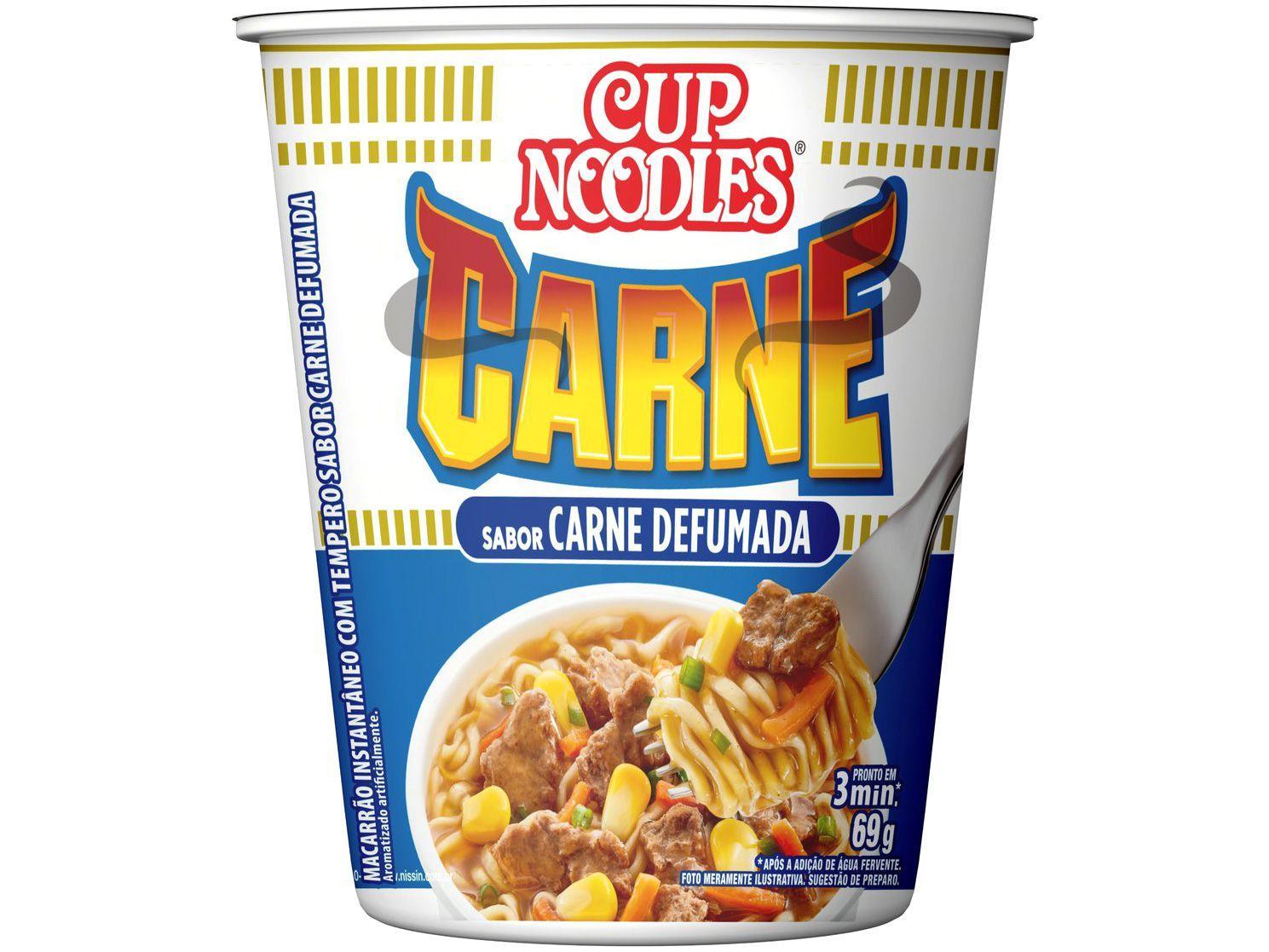Macarrão Instantâneo Cup Noodles Carne Defumada - 69g