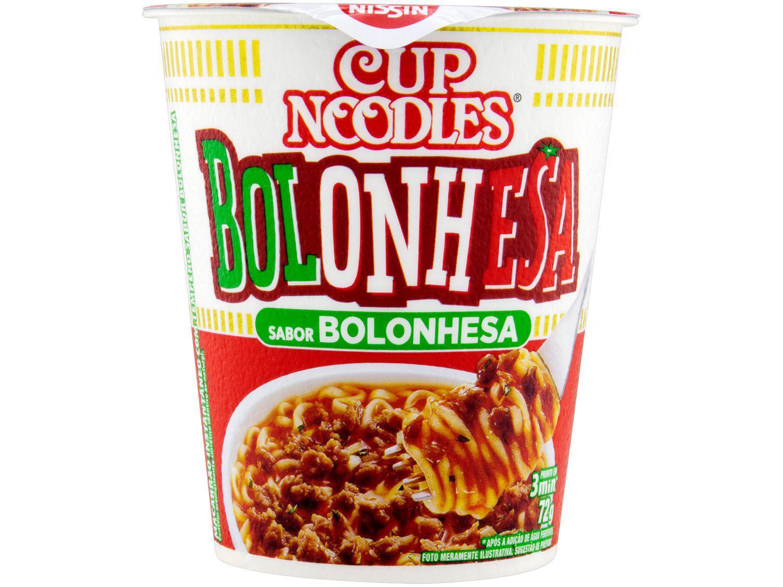 Macarrão Instantâneo Cup Noodles Bolonhesa - 72g