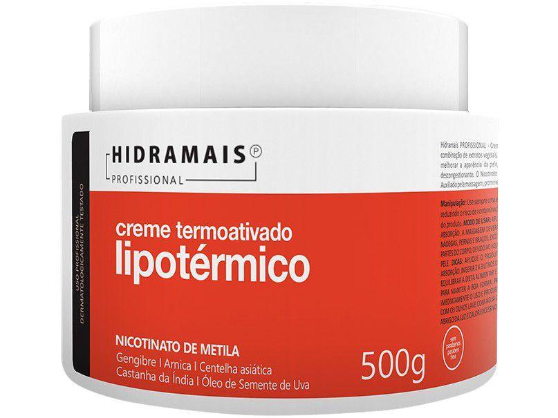 Creme de Massagem Redutor Hidramais Profissional - LipoTérmico 500ml
