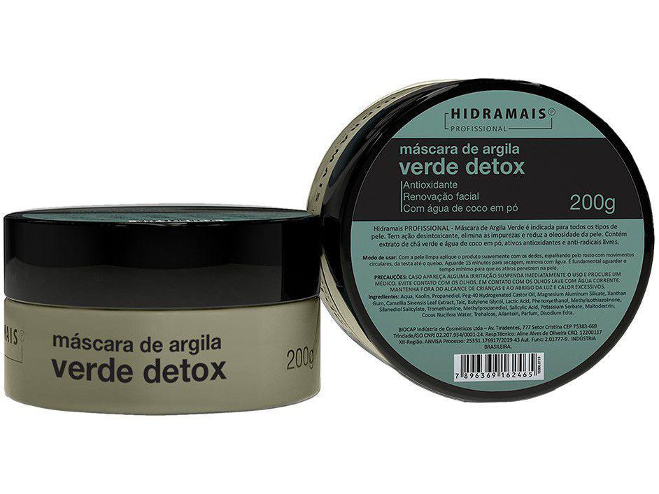 Máscara Facial Hidramais Profissional - Argila Verde Detox 200g