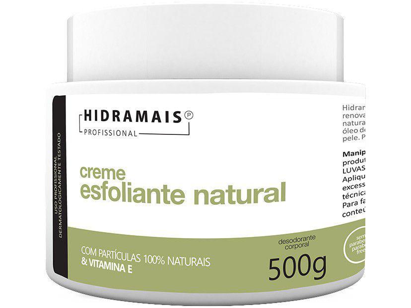 Creme de Massagem Esfolador Hidramais Profissional - Esfoliante Natural 500g