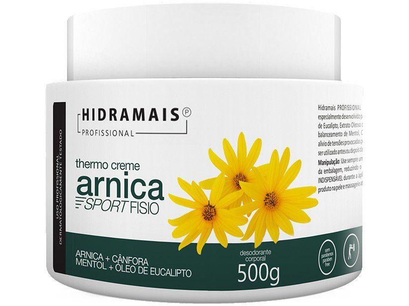 Creme de Massagem Relaxante Hidramais Profissional - Arnica Sport Fisio 500g