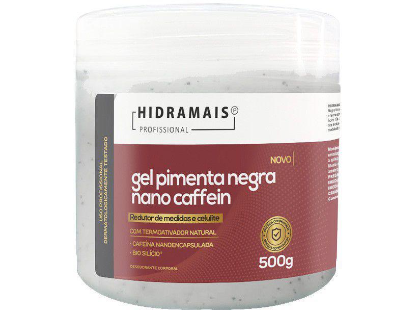 Gel de Massagem Redução de Medidas Hidramais - Profissional Pimenta Negra Nano Caffein 500g