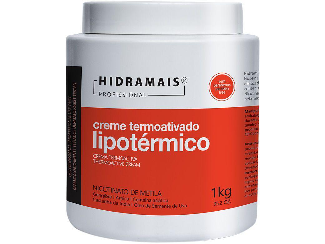 Creme de Massagem Modelador Hidramais Profissional - Lipotérmico 1kg