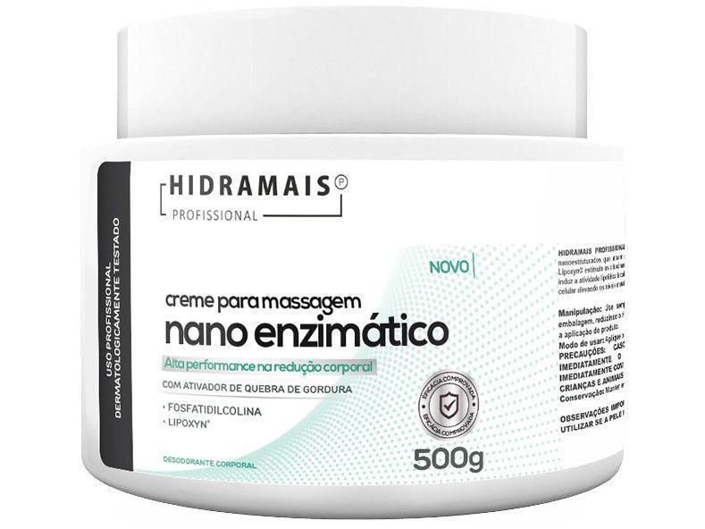 Creme de Massagem Redução de Medidas e Celulite - Profissional Nano Enzimático 500g