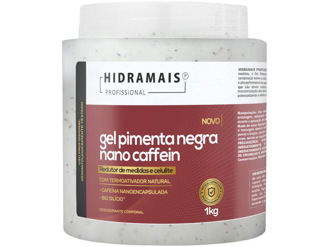 Gel de Massagem Redução de Medidas Hidramais - Profissional Pimenta Negra Nano Caffein 1kg
