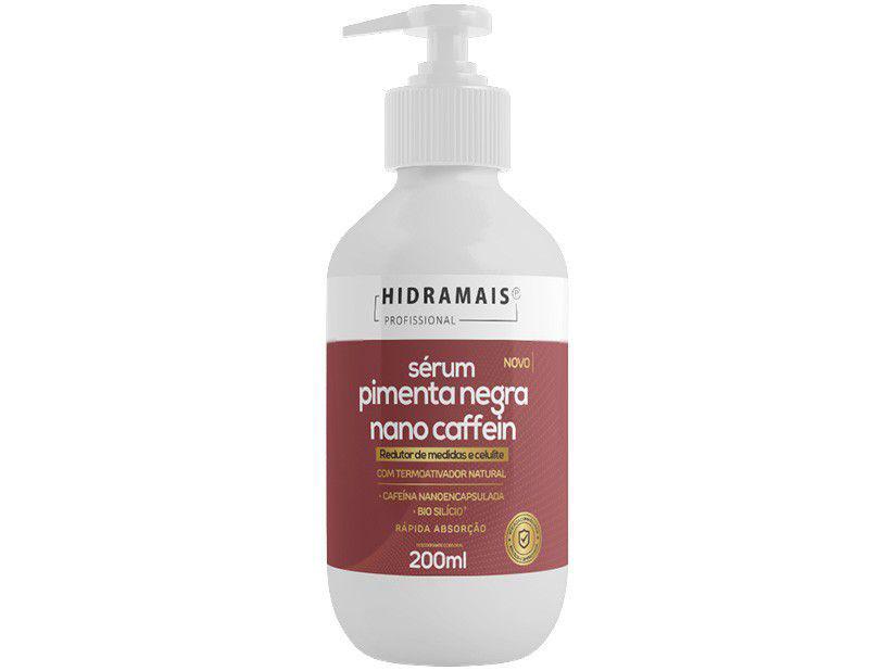 Sérum de Massagem Redutor Hidramais - Pimenta Negra Nano Caffein 200ml