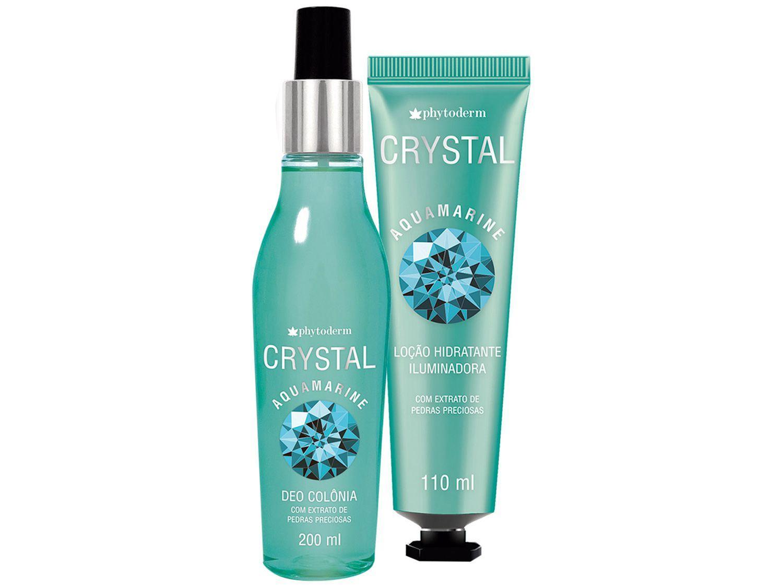 Kit Body Splash Phytoderm Crystal Aquamarine - Feminino