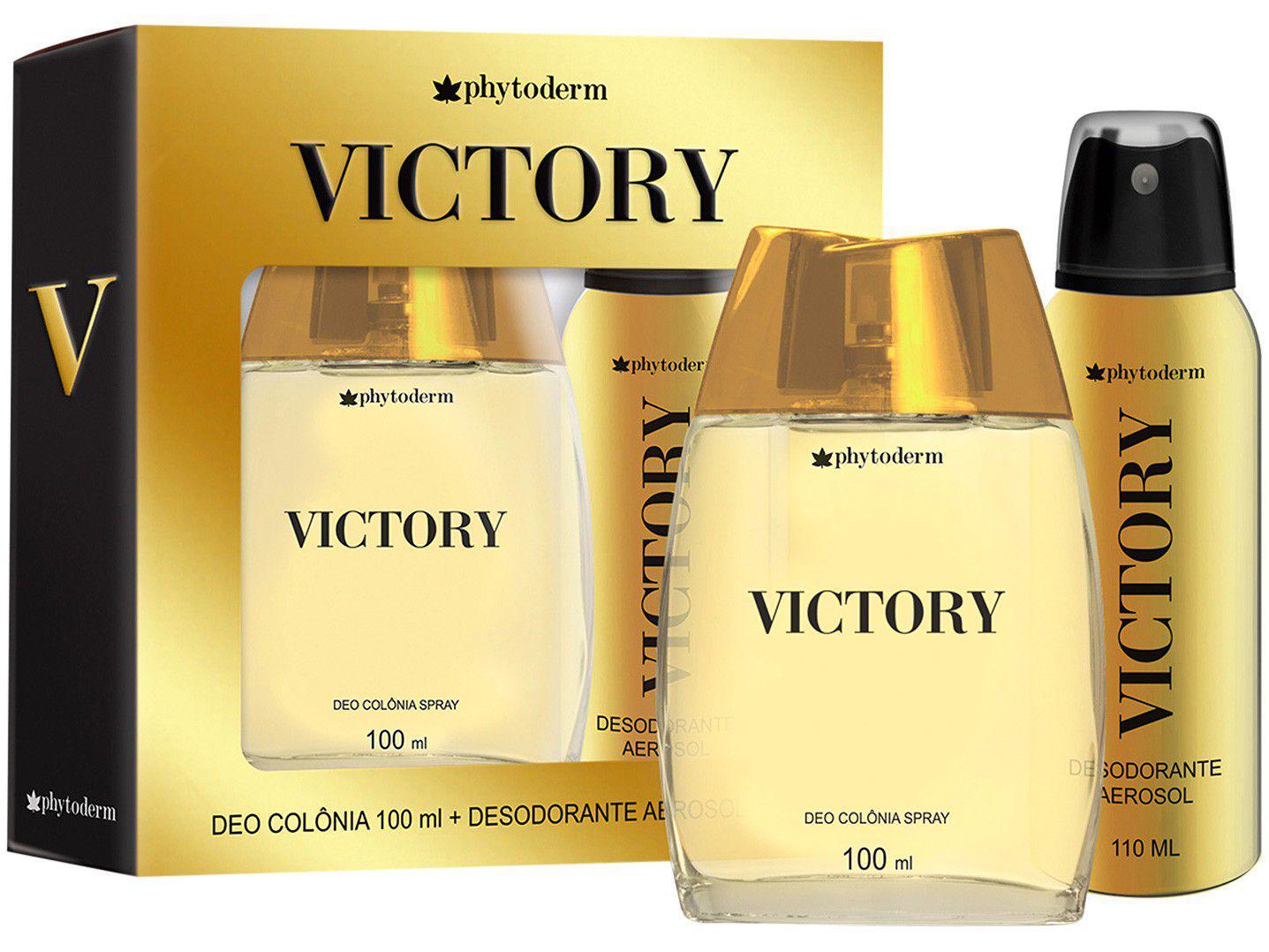 Kit Perfume Phytoderm Victory Masculino - Deo Colônia 2 Unidades