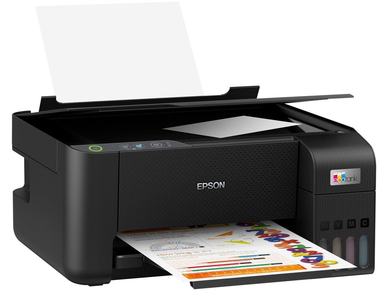 Impressora Multifuncional Epson Ecotank L3210 - Tanque de Tinta Colorida USB
