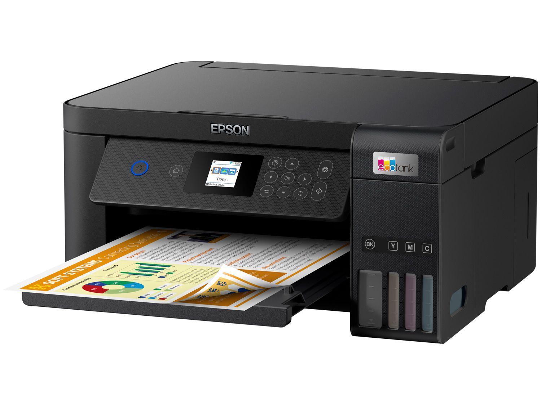 Impressora Multifuncional Epson Ecotank L4260 - Tanque de Tinta Colorida USB Wi-Fi