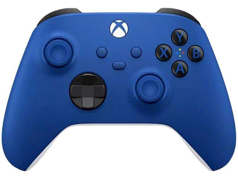 Controle para PC Xbox One e Series X S sem Fio - Shock Blue Microsoft Azul