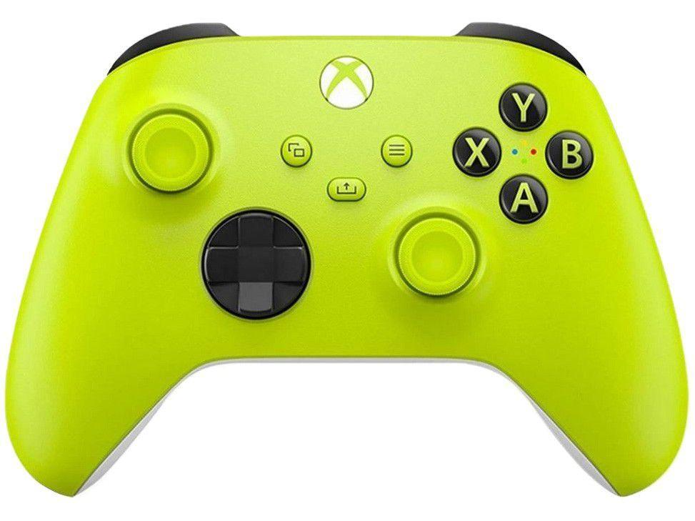 Controle para PC Xbox One e Series X S sem Fio - Eletric Volt Microsoft Neon