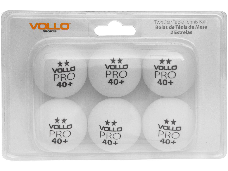 Bola de Ping Pong/Tênis de Mesa Profissional - Vollo Sports 2 Estrelas VT612 6 Unidades