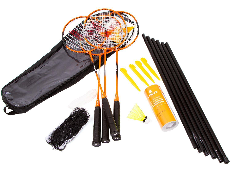 Kit Badminton Vollo VB004 10 Peças