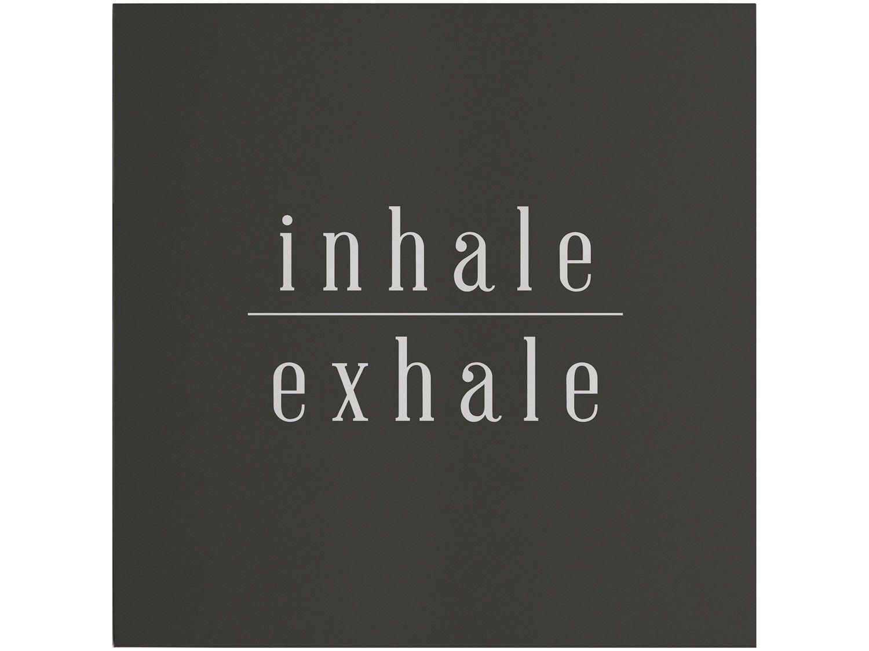 Placa Decorativa MDF Good Vibes Inhale Exhale - 29x29cm Design Up Living