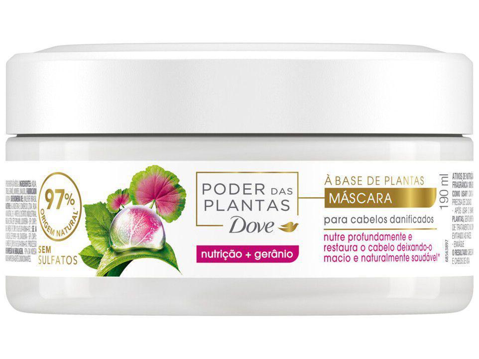 Máscara de Nutrição Dove - Poder das Plantas Nutrição + Gerânio 190ml