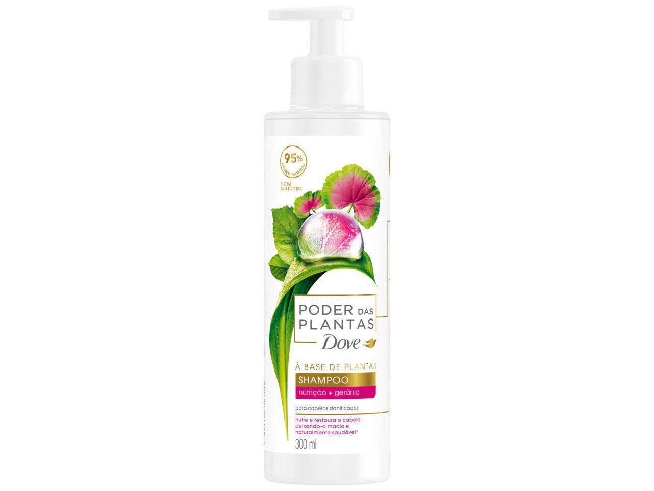 Shampoo Dove Poder das Plantas Nutrição + Gerânio - 300ml