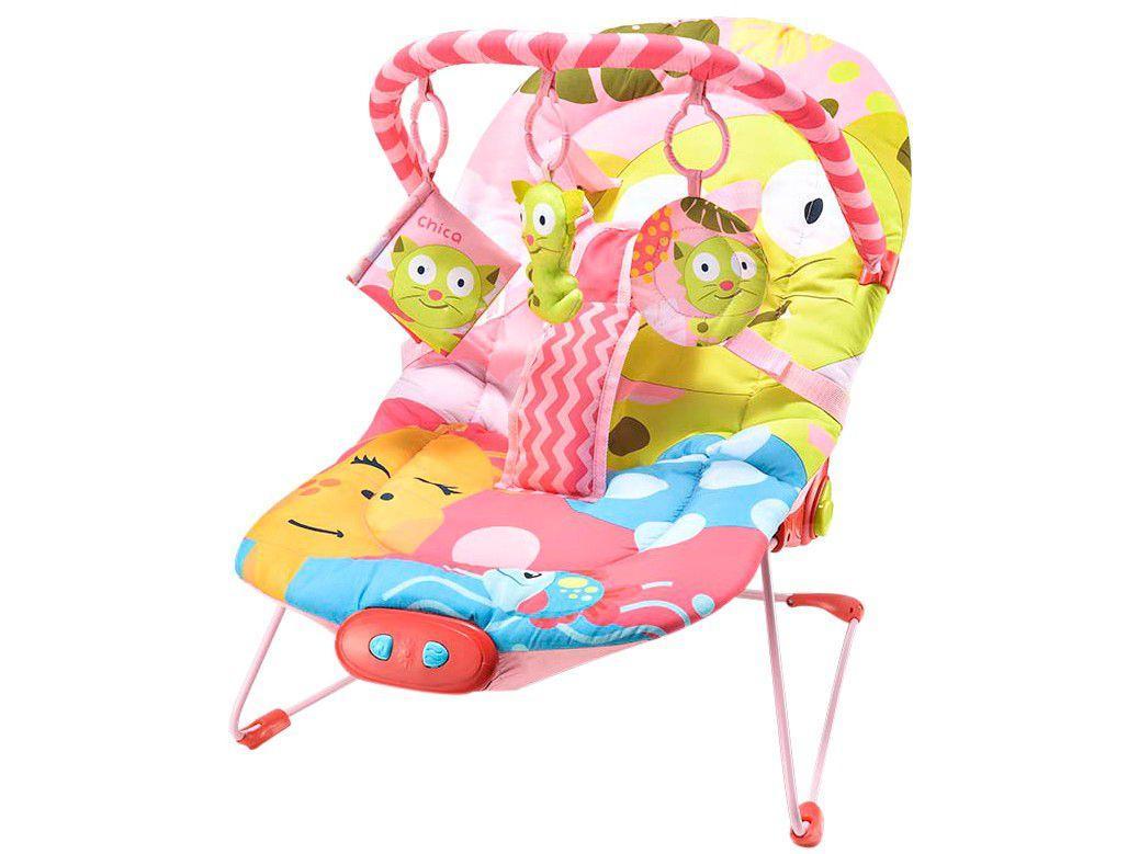 Cadeirinha de Descanso MultiKids Baby Reclinável - Vibratória Gato 0 a 15kg