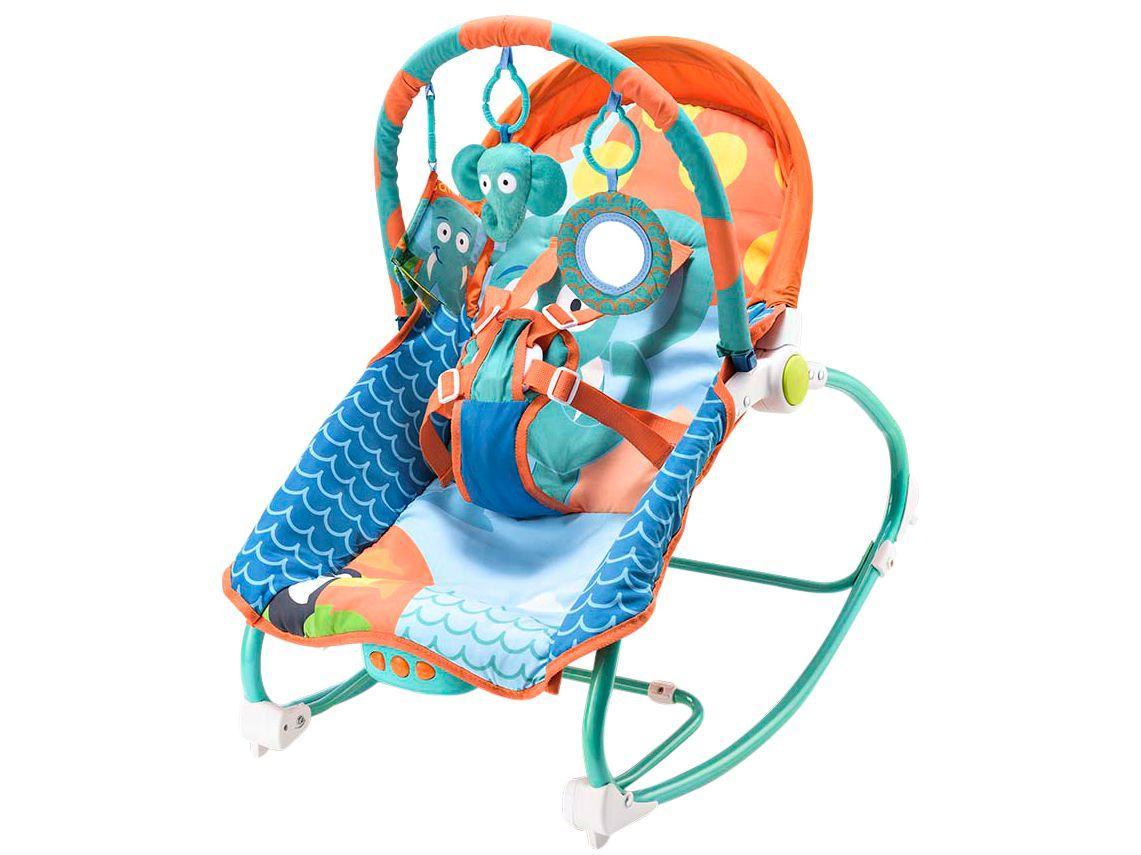 Cadeirinha de Descanso MultiKids Baby Reclinável - Vibratória Elefante 0 a 20kg