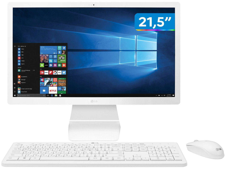 "All in One LG 22V280-L.BY41P2 Intel Celeron - Quad-Core 4GB 500GB IPS 21,5"" Full HD Windows"