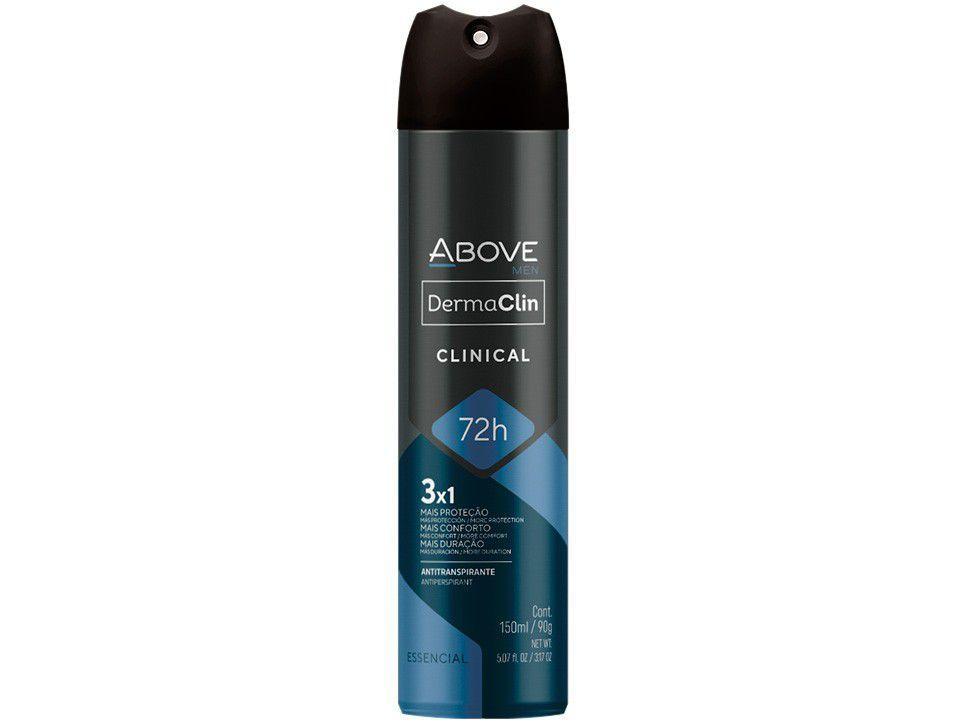 Desodorante Antitranspirante Aerossol Above - Dermaclin Masculino Fougére Aromático 150ml