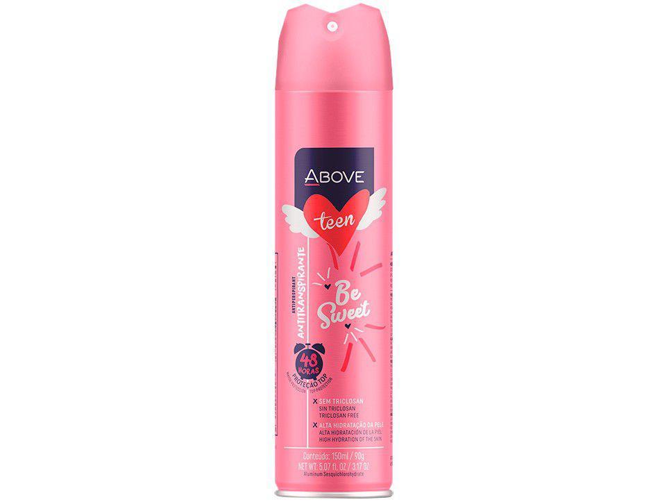 Desodorante Antitranspirante Aerossol Vegano - Above Teen Be Sweet Feminino Floral Frutal 150ml