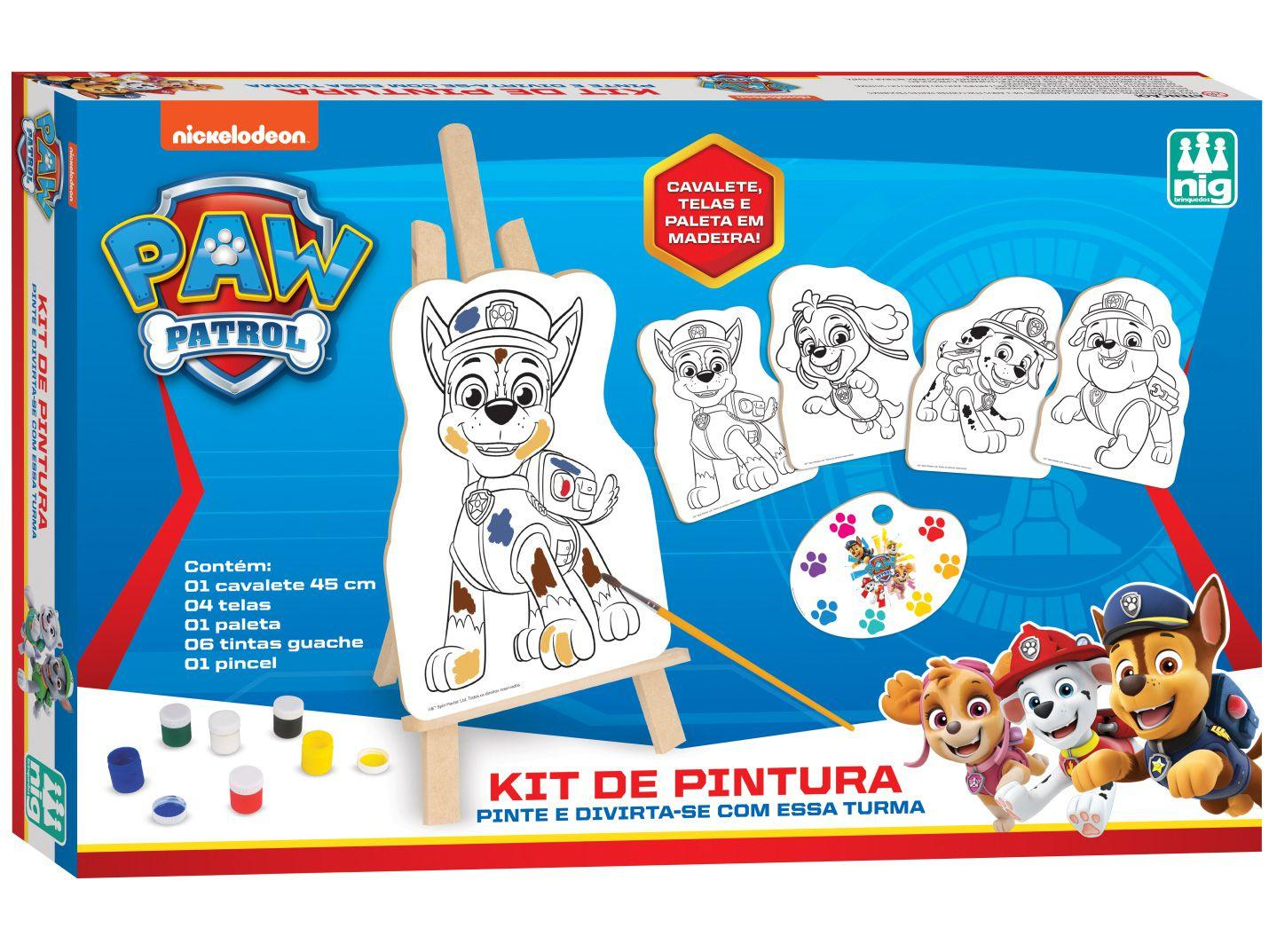 Kit de Colorir Patrulha Canina 0680 com Acessórios - Nig