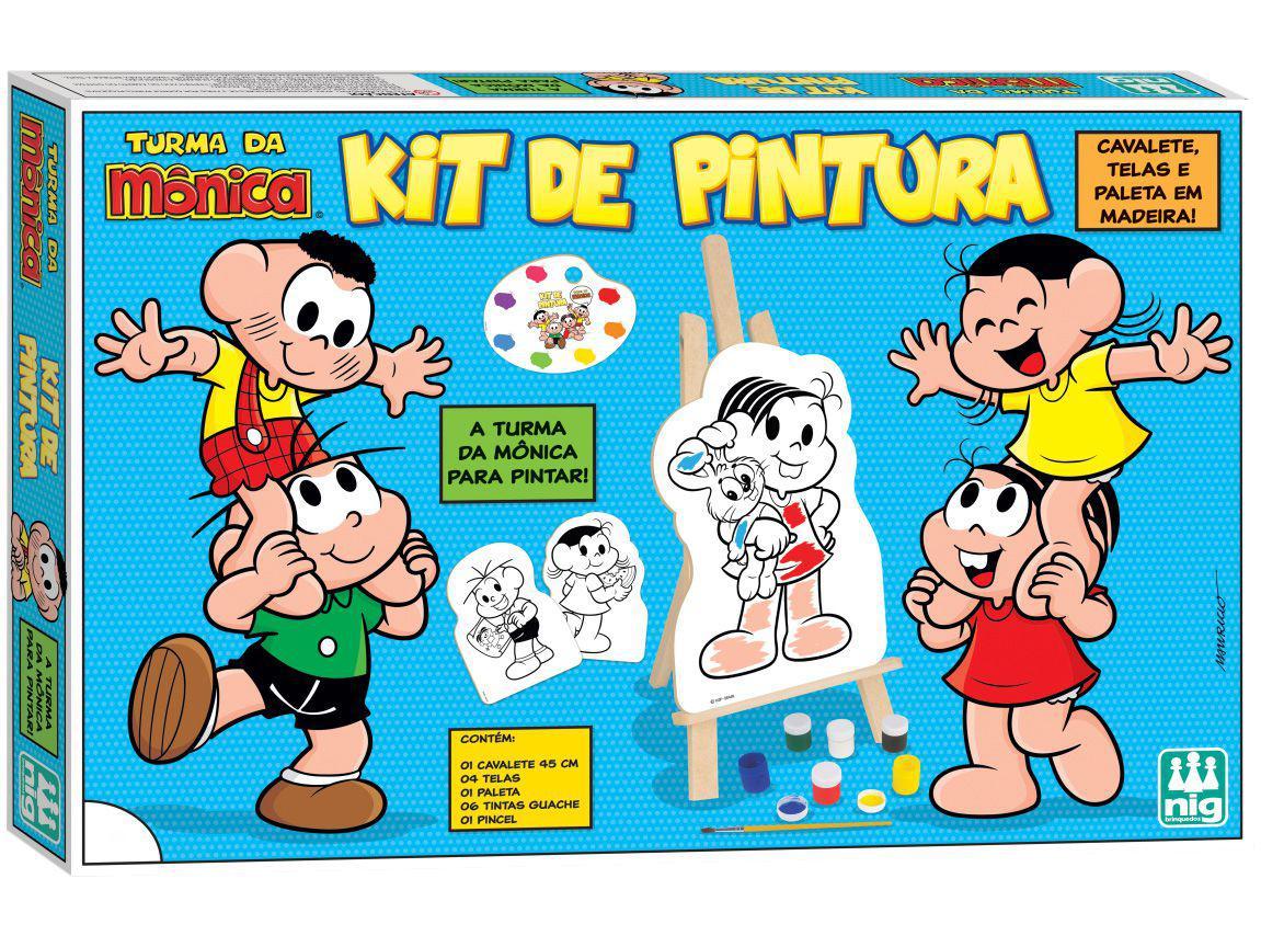 Kit de Pintura Turma da Mônica 0766 com Acessórios - Nig