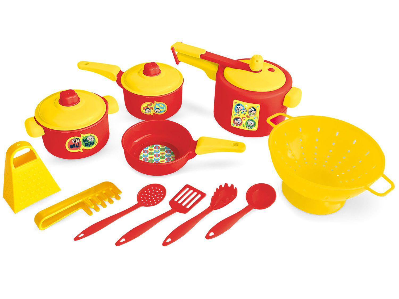 Panelinhas de Brinquedo Turma da Mônica - Brinquedos de Cozinha Nig 11 Peças