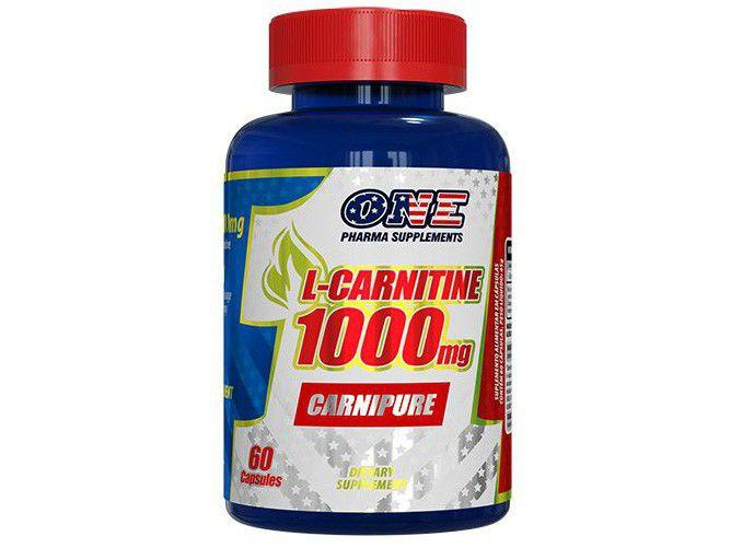 L-Carnitina One Pharma Carnipure em Cápsulas - 60 Cápsulas sem Sabor