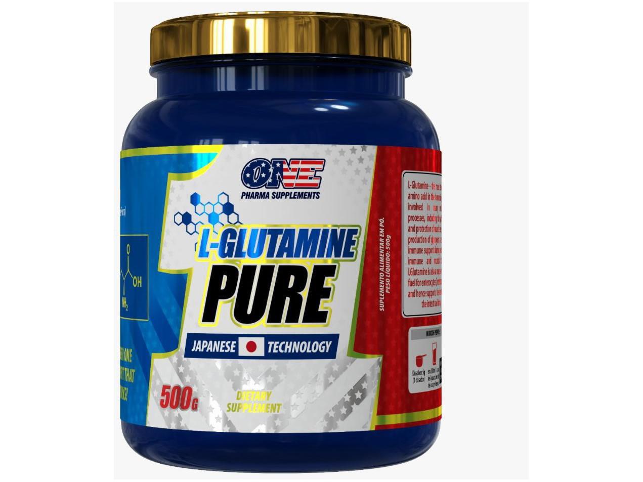 Glutamina One Pharma Pure em Pó 500g sem Sabor