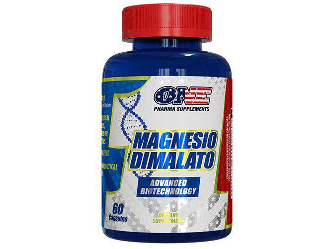 Magnésio Dimalato One Pharma 60 Cápsulas