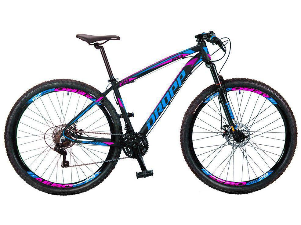 Bicicleta Aro 29 Dropp RS3 Aço Freio a Disco - 21 Marchas