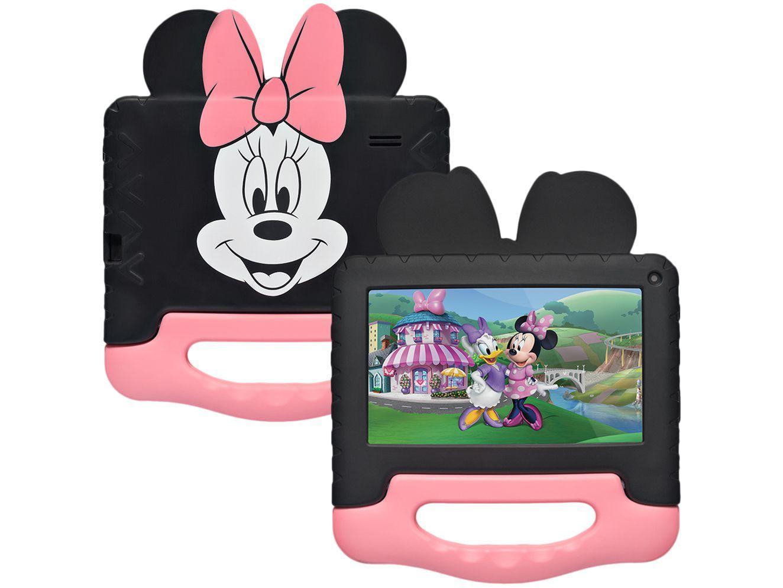 "Tablet Infantil Multilaser Minnie com Capa 7"" - Wi-Fi 32GB Android 11 Quad-Core Câmera Integrada"