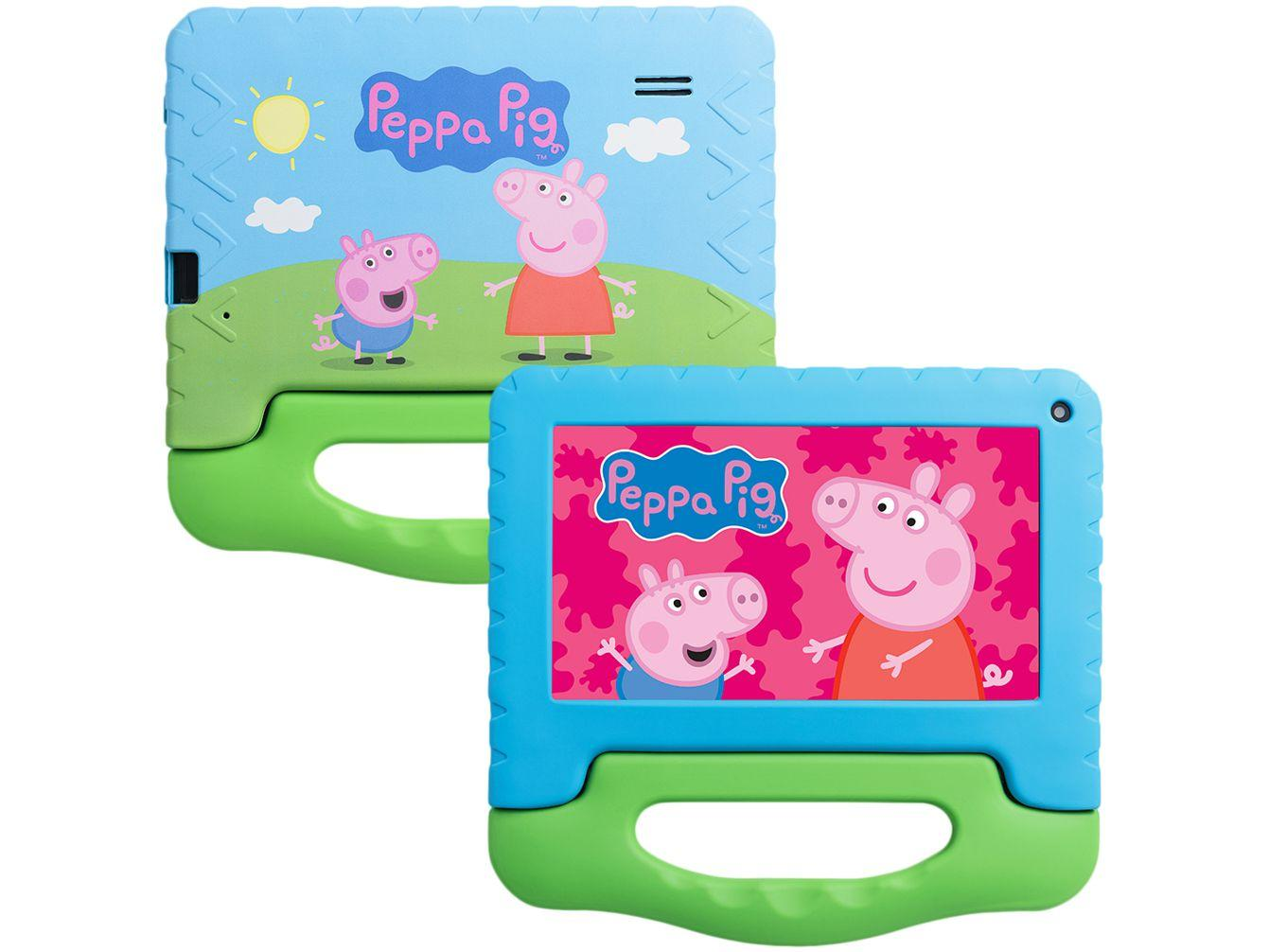 "Tablet Infantil Multilaser Peppa Pig com Capa 7"" - Wi-Fi 32GB Android 11 Quad-Core Câmera Integrada"