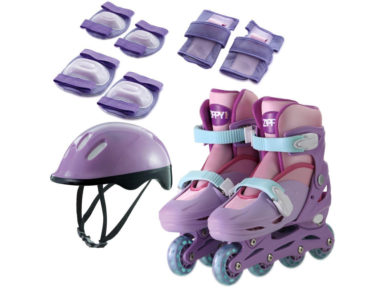 Kit Patins Infantil In Line Zippy Toys Rosa